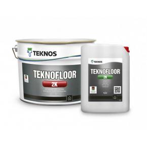 Водоразбавляемая двухкомпонентная эпоксидная краска для бетонных полов Teknos Teknofloor 2K База 1 белая