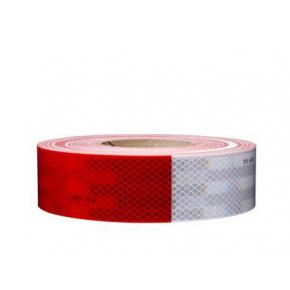 Лента светоотражающая 3М Diamond Grade 983-32 54мм/1м красно-белая для маркировки транспорта