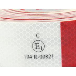 Лента светоотражающая 3М Diamond Grade 983-32 54мм/1м красно-белая для маркировки транспорта - изображение 2 - интернет-магазин tricolor.com.ua