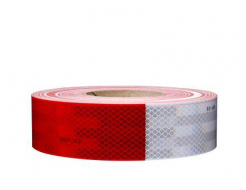Лента светоотражающая 3М Diamond Grade 983-32 54мм/50м красно-белая для маркировки транспорта - интернет-магазин tricolor.com.ua