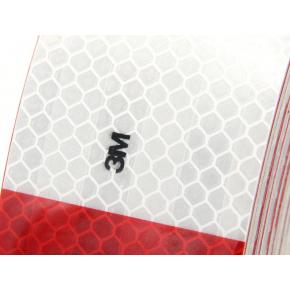 Лента светоотражающая 3М Diamond Grade 983-32 54мм/50м красно-белая для маркировки транспорта - изображение 2 - интернет-магазин tricolor.com.ua