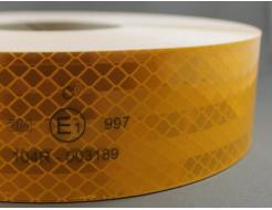 Лента светоотражающая 3М Diamond Grade 997-71 54мм/1м желтая для маркировки тентов - изображение 2 - интернет-магазин tricolor.com.ua