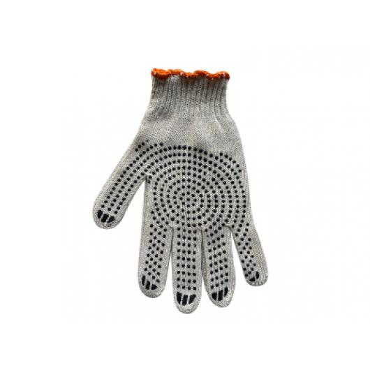 Перчатки Эконом с ПВХ рисунком Farbex белые