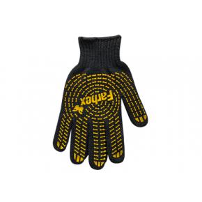 Перчатки Стандарт с ПВХ рисунком Farbex черные