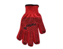 Перчатки Мастер с ПВХ рисунком Farbex красные