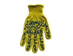 Перчатки Классик с ПВХ рисунком Farbex желтые женские