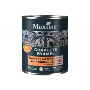 Эмаль антикоррозийная по металлу 3 в 1 Maxima графитная, серая