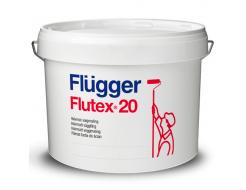 Краска латексная акриловая Flugger Flutex 20 (Vit), белая полуматовая