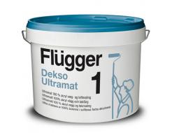 Краска латексная акриловая Flugger Dekso 1 (Base 1), белая глубокоматовая