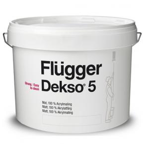 Краска латексная акриловая Flugger Dekso 5 (Base 1), белая матовая