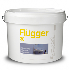 Краска латексная акриловая Flugger Wet Room Paint (Base 1), белая