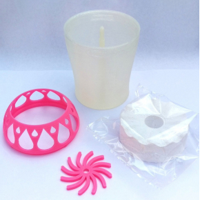 Влагопоглотитель Воложка со сменным картриджем розовый - изображение 2 - интернет-магазин tricolor.com.ua