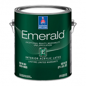 Краска акриловая Sherwin-Williams Emerald Interior Acryllic Latex Matte Ultradeep матовая