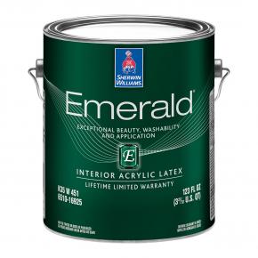 Краска акриловая Sherwin-Williams Emerald Interior Acryllic Latex Satin Extra White полуматовая