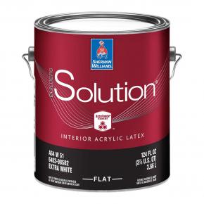 Краска латексная Sherwin-Williams Builders Solution Interior Latex Flat Extra White глубокоматовая