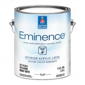 Краска латексная Sherwin-Williams Eminence для потолка Flat Bright White глубокоматовая ярко-белая