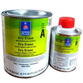 Двухкомпонентная краска с эффектом маркерной доски Sherwin-Williams Dry Erase Coating глянцевая прозрачная