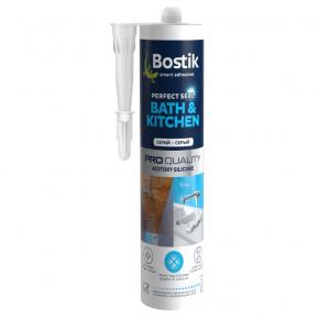 Герметик ацетокси-силиконовый Bostik Bath and Kitchen A Серый