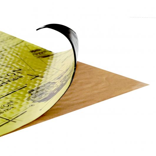 Вибродемпфирующий материал Acoustics Evolution 2.0 0,7м*0,5м фольга 200 мкм - интернет-магазин tricolor.com.ua