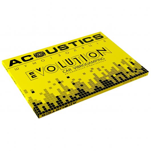 Вибродемпфирующий материал Acoustics Evolution 2.0 0,7м*0,5м фольга 200 мкм - изображение 3 - интернет-магазин tricolor.com.ua