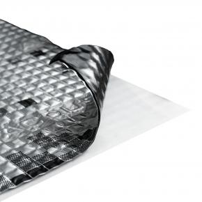 Виброизоляционный материал Acoustics Alumat 1.6 0,37м*0,5м фольга 100 мкм - интернет-магазин tricolor.com.ua