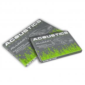 Виброизоляционный материал Acoustics Alumat 2.2 0,37м*0,5м фольга 100 мкм - изображение 3 - интернет-магазин tricolor.com.ua