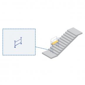 Элемент мини-подмостей Будмайстер стойка дополнительная 0,65*0,995 м MPU H100