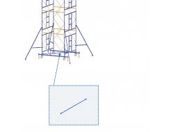 Элемент подмостей Будмайстер диагональ основная 1,93 м MSE L193 - интернет-магазин tricolor.com.ua