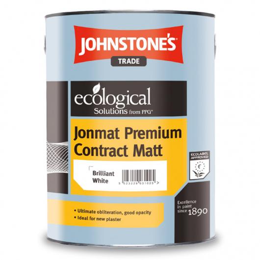 Краска интерьерная виниловая Johnstones Jonmat Premium Contract Matt матовая белая