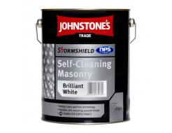 Краска фасадная на основе акриловой смолы Johnstones Stormshield Self Cleaning Masonry для фасадов белая
