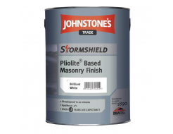 Краска фасадная на основе смолы Johnstones Stormshield Pliolite Based Masonry Finish для фасадов белая