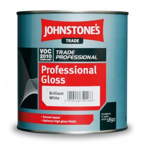 Краска алкидная Johnstones Professional Gloss по дереву и металлу глянцевая белая