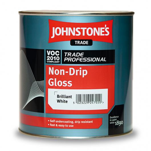 Эмаль алкидная Johnstones Non-Drip Gloss по дереву и металлу глянцевая белая