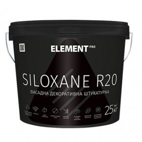 Штукатурка фасадная декоративная Element Pro Siloxane R20 акриловая усиленная силоксаном белая