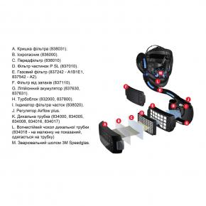 Фильтр противоаэрозольный Speedglas 3M 837012 для Adflo пара - изображение 2 - интернет-магазин tricolor.com.ua