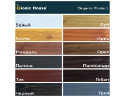 Антисептик для дерева Bionic House Organic Protect Грей - изображение 3 - интернет-магазин tricolor.com.ua