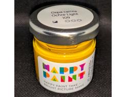 Краска масляная художественная Happy Paint Охра светлая 109 - интернет-магазин tricolor.com.ua