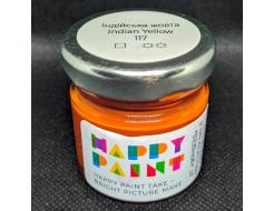 Краска масляная художественная Happy Paint Индийская желтая 117 - интернет-магазин tricolor.com.ua
