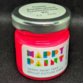 Краска масляная художественная Happy Paint Розовая флуоресцентная 805