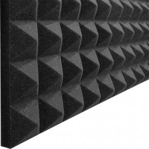 Акустическая панель Пирамида 40 мм 50х50 см A4Sound EchoFom черный графит - изображение 3 - интернет-магазин tricolor.com.ua