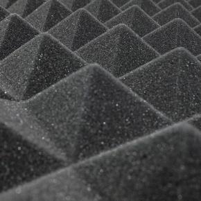 Акустическая панель Пирамида 40 мм 50х50 см A4Sound EchoFom черный графит - изображение 2 - интернет-магазин tricolor.com.ua