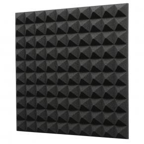 Акустическая панель Пирамида 40 мм 50х50 см A4Sound EchoFom черный графит - интернет-магазин tricolor.com.ua