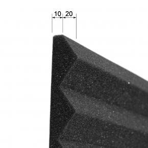 Акустическая панель Пила 30 мм 50х50 см EchoFom Стандарт черный графит - изображение 4 - интернет-магазин tricolor.com.ua