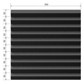 Акустическая панель Пила 30 мм 50х50 см EchoFom Стандарт черный графит - изображение 3 - интернет-магазин tricolor.com.ua