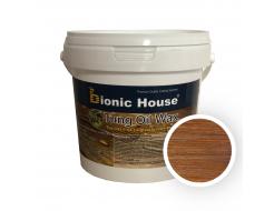 Масло тунговое с карнаубским воском Hard Tung oil Bionic House Миндаль
