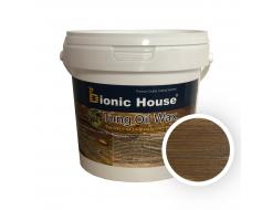 Масло тунговое с карнаубским воском Hard Tung oil Bionic House Орех