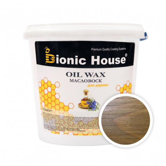 Масло-воск для дерева с пчелиным воском Bionic House в цвете Светлый дуб - интернет-магазин tricolor.com.ua