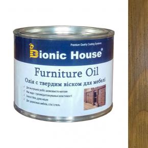 Масло для мебели Furniture oil Bionic House с твердым воском профессиональное Светлый дуб
