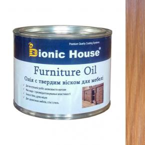 Масло для мебели Furniture oil Bionic House с твердым воском профессиональное Клен