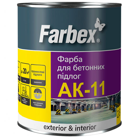 Краска для бетонных полов Farbex АК-11 серая